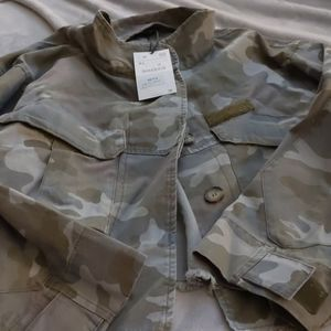 Women's brand new xlarge cropped military jacket